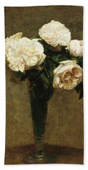 Roses In A Vase Hand Towel