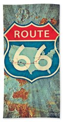 Route 66 Bath Towel