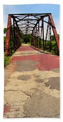 Route 66 - One Lane Bridge Hand Towel