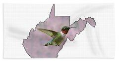 Ruby-throated Hummingbird  Beautiful Coloring Hand Towel