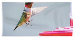 Hand Towel featuring the photograph Ruby-throated Hummingbird  by Ricky L Jones