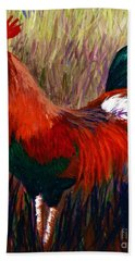 Rudy The Rooster Bath Towel