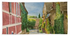 Rue Claude Monet Hand Towel