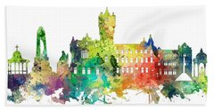 Rutherglen Scotland Skyline Bath Towel