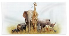 Safari Animals In Africa Composite Hand Towel