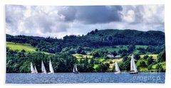 Sailing Lake Windermere Bath Towel