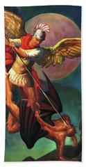 Saint Michael The Warrior Archangel Bath Towel