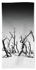 Sand Dune With Dead Trees Bath Towel by Chevy Fleet