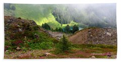 Sauk Mountain Lake Bath Towel by Karen Molenaar Terrell