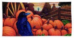 Bath Towel featuring the painting Scarecrow by Michael Frank