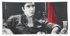 Scarface Hand Towel by Luis Ludzska