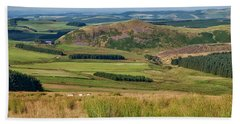 Scotland View From The English Borders Hand Towel by Jeremy Lavender Photography