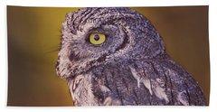Screech Owl  Hand Towel