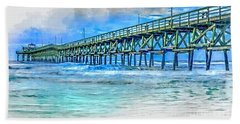 Sea Blue - Cherry Grove Pier Bath Towel