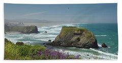 Sea Stacks And Surf Bath Towel