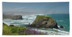 Sea Stacks And Surf Bath Towel