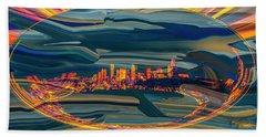 Seattle Swirl Hand Towel by Dale Stillman