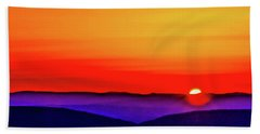 Shenandoah Valley Sunset Bath Towel