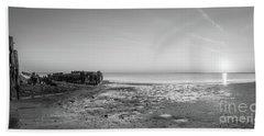 Shipwreck Panorama Sunset Hand Towel