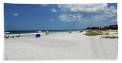 Hand Towel featuring the photograph Siesta Key Beach by Gary Wonning