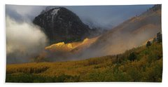 Bath Towel featuring the photograph Siever's Mountain by Steve Stuller