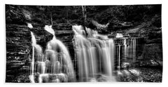 Silvery Falls Bath Towel by Paul W Faust - Impressions of Light