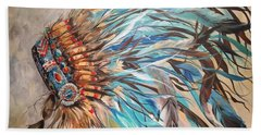 Sky Feather Bath Towel by Heather Roddy