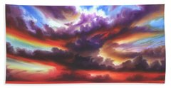 Hand Towel featuring the painting Skyburst by James Christopher Hill