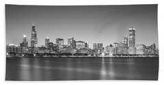 Skyscrapers At The Waterfront, Hancock Hand Towel by Panoramic Images