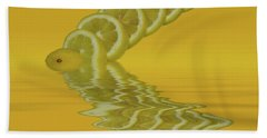 Bath Towel featuring the photograph Slices Lemon Citrus Fruit by David French
