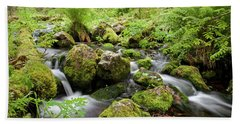 Small Creek On Velhopolku Trail Bath Towel