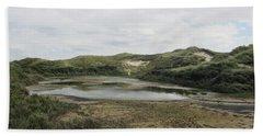 Small Lake In The Noordhollandse Duinreservaat Hand Towel