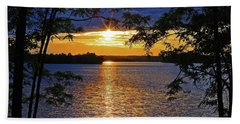 Smith Mountain Lake Summer Sunet Hand Towel