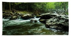 Hand Towel featuring the photograph Smoky Mountain River by Jay Stockhaus
