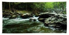 Smoky Mountain River Bath Towel