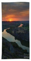 Snake River Sunset Bath Towel