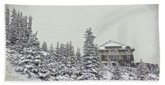 Hand Towel featuring the photograph Snow In July by Teresa Zieba
