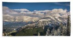 Snow On The Mountain Hand Towel by Bill Howard
