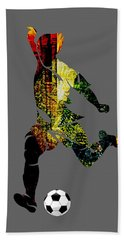 Soccer Collection Hand Towel by Marvin Blaine