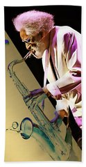 Sonny Rollins Collection Hand Towel by Marvin Blaine