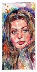Sophia Loren Painting Bath Towel