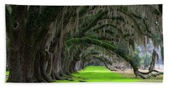 Hand Towel featuring the photograph Southern Oaks by Serge Skiba