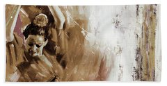 Bath Towel featuring the painting Spanish Woman Dance  by Gull G