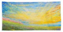 Bath Towel featuring the painting Spring by Teresa Wegrzyn