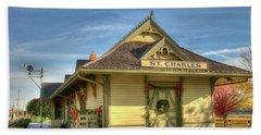 St. Charles Depot Hand Towel by Steve Stuller