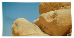 Stacked Boulders Joshua Tree Bath Towel by Amyn Nasser