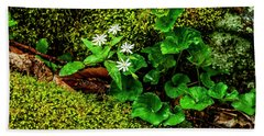 Star Chickweed Mossy Rock Hand Towel
