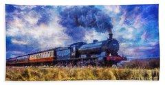 Steam Train Hand Towel by Ian Mitchell