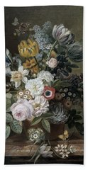Still Life With Flowers Hand Towel
