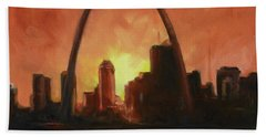 St.louis Downtown - Sunset Hand Towel